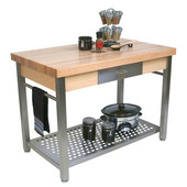 Maple Cucina Grande Kitchen Work Table, 60'' W x 28'' D x 35''H