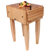 PCA Butcher Block with Knife Holder, Natural Maple, Multiple Sizes Available