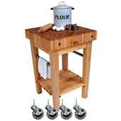 Pro Prep Butcher Block with Casters, 24'' x 24''