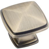 Milan 1 Collection 1-3/16'' W Plain Square Cabinet Knob in Brushed Antique Brass
