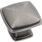 Milan 1 Collection 1-3/16'' W Plain Square Cabinet Knob in Brushed Pewter
