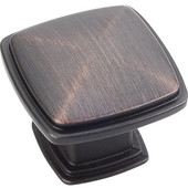 Milan 1 Collection 1-3/16'' W Plain Square Cabinet Knob in Brushed Oil Rubbed Bronze