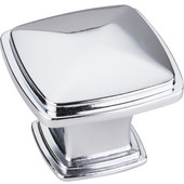 Milan 1 Collection 1-3/16'' W Plain Square Cabinet Knob in Polished Chrome