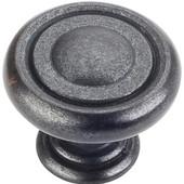Bremen 1 Collection 1-1/4'' Diameter Round Button Cabinet Knob in Gun Metal