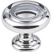 Bremen 1 Collection 1-1/4'' Diameter Round Button Cabinet Knob in Polished Chrome, 1-1/4'' Diameter x 1-1/16'' D