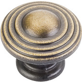 Bremen 2 Collection 1-1/4'' Diameter Round Ring Cabinet Knob in Antique Brushed Satin Brass