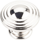 Bremen 2 Collection 1-1/4'' Diameter Round Ring Cabinet Knob in Polished Nickel