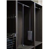 25-1/2''W - 35''W Expanding Wardrobe Lift, Black Powder Coated Tubing