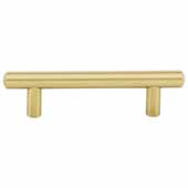 Key West Collection 6'' W Steel Cabinet Bar Pull In Brushed Gold