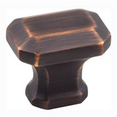 Ella Collection 1-1/4'' W Decorative Cabinet Knob in Brushed Oil Rubbed Bronze