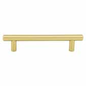 Key West Collection 7'' W Steel Cabinet Bar Pull In Brushed Gold