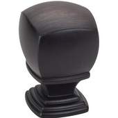 Katharine Collection 1'' Diameter Decorative Cabinet Knob in Brushed Oil Rubbed Bronze, 1'' Diameter x 1-3/8'' D