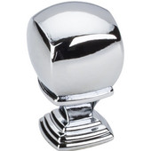 Katharine Collection 7/8'' Diameter Decorative Cabinet Knob in Polished Chrome, 7/8'' Diameter x 1-3/8'' D