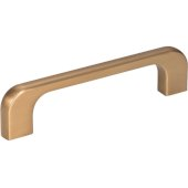4-7/16'' Width Alvar Cabinet Pull in Satin Bronze, Center to Center: 96mm (3-3/4'')