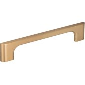 6-3/8'' Width Leyton Cabinet Pull in Satin Bronze, Center to Center: 128mm (5'')