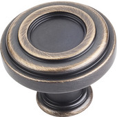 Lafayette Collection 1-3/8'' Diameter Circle Cabinet Knob in Antique Brushed Satin Brass