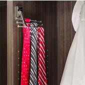 Screw Mounted Tri-Level Tie/ Scarf Rack Organizer, Polished Chrome, Holds 12 ties/scarfs, 6-3/4''W x 2''D x 4''H