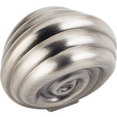 Lille Collection 1-3/8'' Diameter Palm Leaf Large Round Cabinet Knob in Brushed Pewter