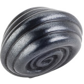 Lille Collection 1-1/4'' Diameter Palm Leaf Small Round Cabinet Knob in Gun Metal