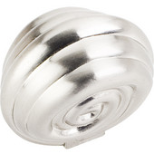 Lille Collection 1-3/8'' Diameter Palm Leaf Large Round Cabinet Knob in Satin Nickel