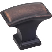 Annadale Collection 1-1/2'' W Oblong Pillow Cabinet Knob in Brushed Oil Rubbed Bronze