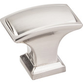 Annadale Collection 1-1/2'' W Oblong Pillow Cabinet Knob in Satin Nickel