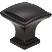 1-1/4'' Width Annadale Square Pillow Top Cabinet Knob in Matte Black
