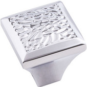 Solana Collection 1-1/4'' Square Cabinet Knob, Polished Chrome