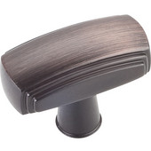 Delgado Collection 1-9/16'' W Rectangle Cabinet Knob in Brushed Oil Rubbed Bronze