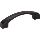 4-3/16'' Width Merrick Cabinet Pull in Matte Black, Center to Center: 96mm (3-3/4'')