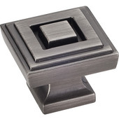 Delmar Collection 1-1/4'' W Large Square Cabinet Knob in Brushed Pewter