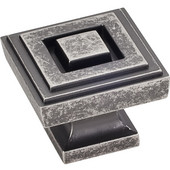 Delmar Collection 1-1/4'' W Large Square Cabinet Knob in Distressed Pewter