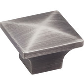 Cairo Collection 1-1/4'' W Square Cabinet Knob in Brushed Pewter