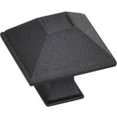 Tahoe Collection 1-1/4'' W Rustic Small Square Cabinet Knob in Black