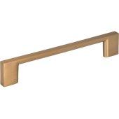 5-7/8'' Width Sutton Cabinet Pull in Satin Bronze, Center to Center: 128mm (5'')