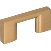 2-1/4'' Width Sutton Cabinet Pull in Satin Bronze, Center to Center: 32mm (1-1/4'')