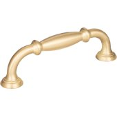 4-1/2'' Width Tiffany Cabinet Pull in Brushed Gold, Center to Center: 96mm (3-3/4'')
