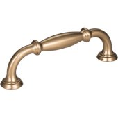 4-1/2'' Width Tiffany Cabinet Pull in Satin Bronze, Center to Center: 96mm (3-3/4'')