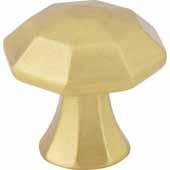Wheeler Collection 1-1/4'' Diameter Cabinet Knob, Brushed Gold