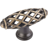 Tuscany Collection 2-5/16'' W Birdcage Cabinet T-Knob in Antique Brushed Satin Brass