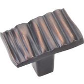 Valencia Collection 1-3/16'' W Ruched Rectangle Cabinet Knob in Brushed Oil Rubbed Bronze
