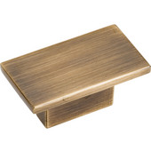 Mirada Collection 1-9/16'' W Rectangle Cabinet Knob in Antique Brushed Satin Brass