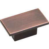 Mirada Collection 1-9/16'' W Rectangle Cabinet Knob in Brushed Oil Rubbed Bronze