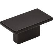 Mirada Collection 1-9/16'' Width Rectangle Cabinet Knob in Matte Black
