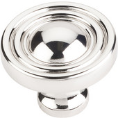Bella Collection 1-3/8'' Diameter Round Cabinet Knob in Polished Nickel