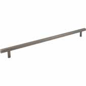 Dominique Collection 21'' W Appliance Pull, Center to Center 18'', Brushed Pewter