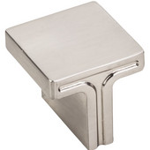 Anwick Collection 1-1/8'' W Rectangle Cabinet Knob in Satin Nickel, 1-1/8'' W x 1-1/16'' D