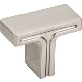 Anwick Collection 1-3/8'' W Rectangle Cabinet Knob in Satin Nickel, 1-3/8'' W x 1-1/16'' D