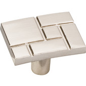 Breighton Collection 1-7/16'' W Rectangle Cabinet Knob in Satin Nickel