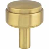 Hayworth Cabinet Knob in Brushed Gold, 1-1/8'' D